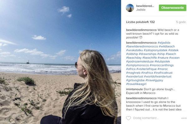 Travel Like A Girl beach morocco wild jadida