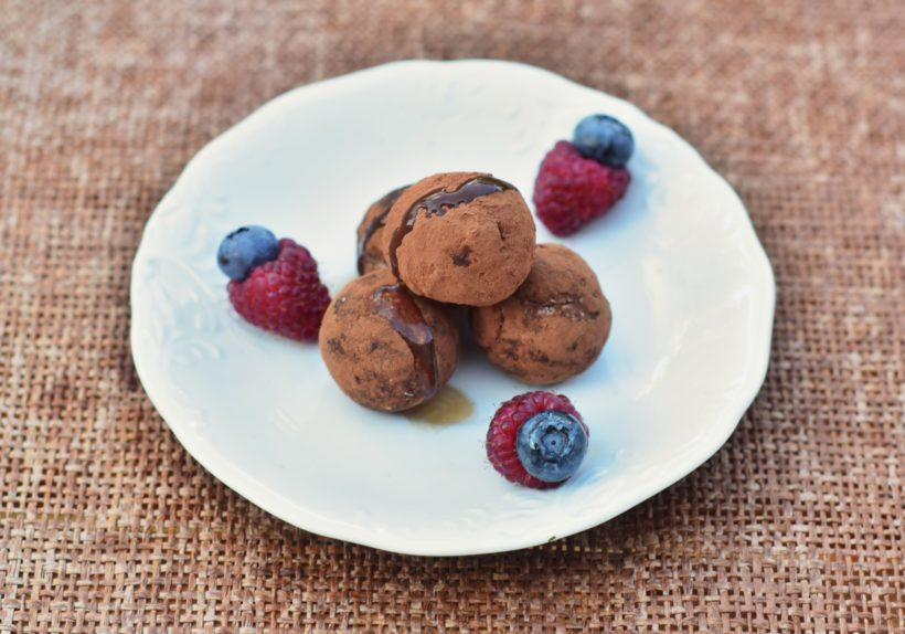 Low Carb High Protein truffle recipe ball
